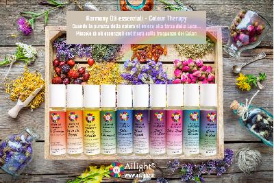 Oli essenziali e Colour Therapy un abbinamento vincente
